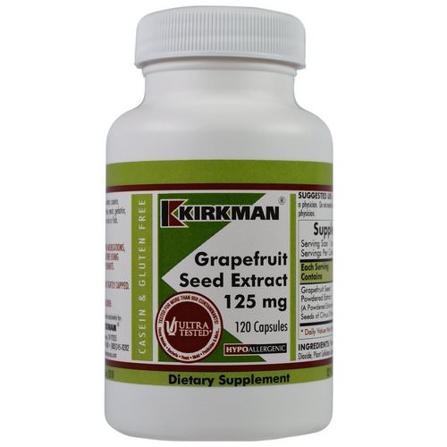 Kirkman Labs, Grapefruit Seed Extract, 125 mg, 120 Capsules Review