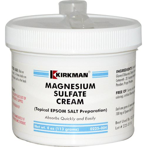 Kirkman Labs, Magnesium Sulfate Cream, 4 oz (113 g) Review