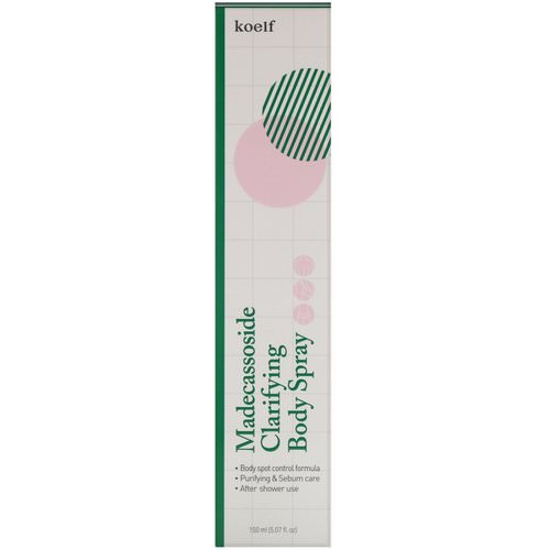 Koelf, Madecassoside Clarifying Body Spray, 5.07 fl oz (150 ml) Review