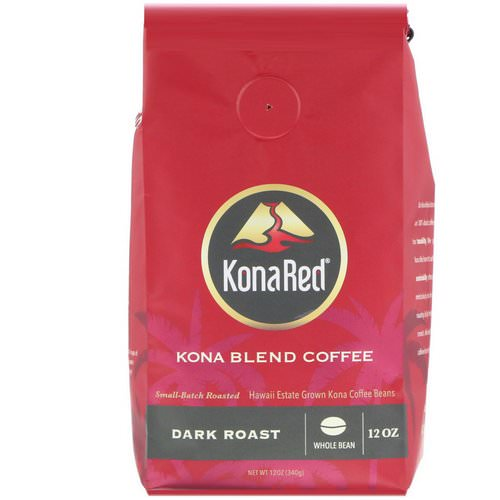 KonaRed, Kona Blend Coffee, Dark Roast, Whole Bean, 12 oz (340 g) Review