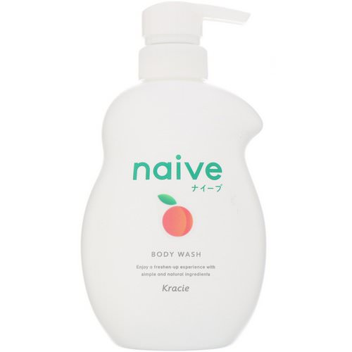 Kracie, Naive, Body Wash, Peach, 17.9 fl oz (530 ml) Review