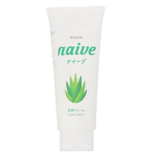 Kracie, Naive, Face Wash, Aloe, 4.5 oz (130 g) Review