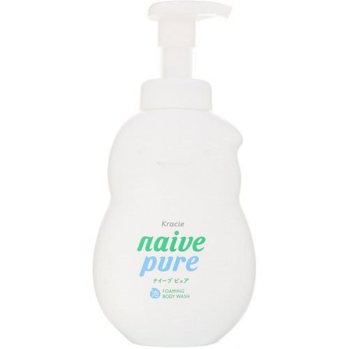 Kracie, Naive, Foaming Body Wash, Pure, 18.6 fl oz (550 ml) Review