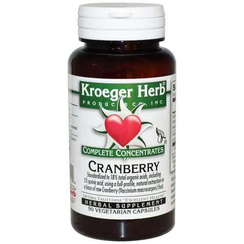 Kroeger Herb Co, Complete Concentrates, Cranberry, 90 Veggie Caps Review