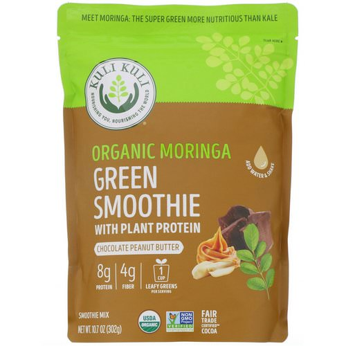 Kuli Kuli, Organic Moringa Green Smoothie With Plant Protein, Chocolate Peanut Butter, 10.7 oz (302 g) Review