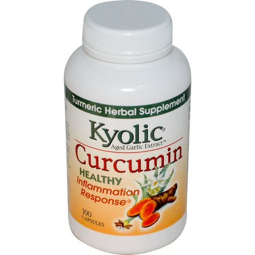 Kyolic, Aged Garlic Extract, Inflammation Response, Curcumin, 100 Capsules Review
