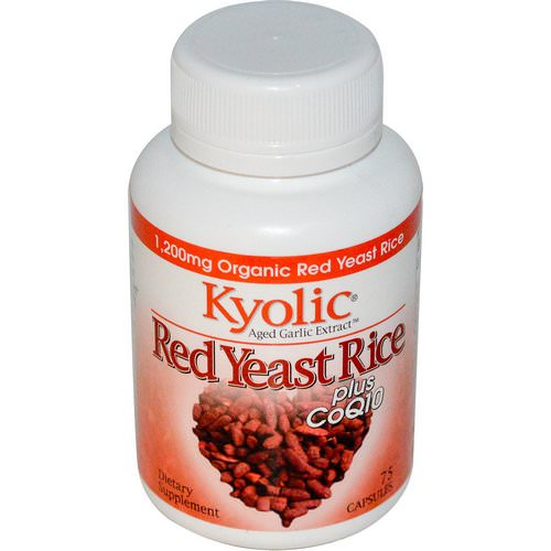 Kyolic, Aged Garlic Extract, Red Yeast Rice, Plus CoQ10, 75 Capsules Review