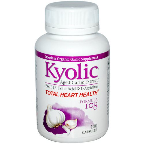 Kyolic, Total Heart Health, Formula 108, 100 Capsules Review