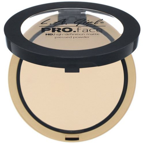 L.A. Girl, Pro Face HD Matte Pressed Powder, Creamy Natural, 0.25 oz (7 g) Review