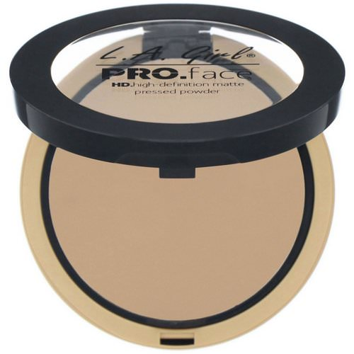 L.A. Girl, Pro Face HD Matte Pressed Powder, Medium Beige, 0.25 oz (7 g) Review