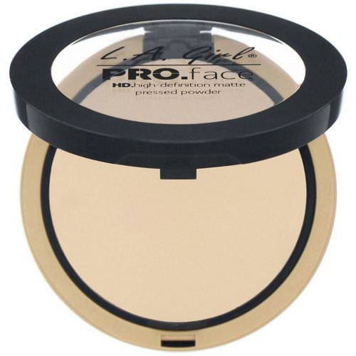 L.A. Girl, Pro Face HD Matte Pressed Powder, Nude Beige, 0.25 oz (7 g) Review