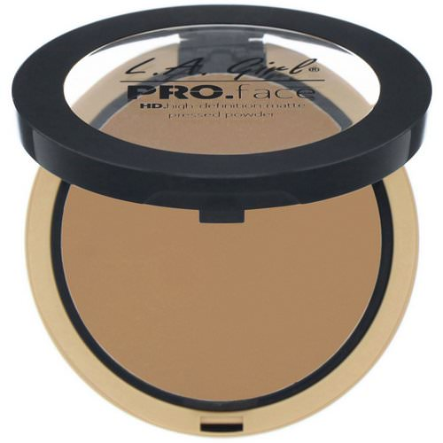 L.A. Girl, Pro Face HD Matte Pressed Powder, Warm Caramel, 0.25 oz (7 g) Review
