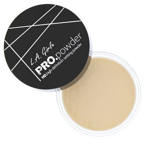 L.A. Girl, Pro HD Setting Powder, Banana Yellow, 0.17 oz (5 g) Review