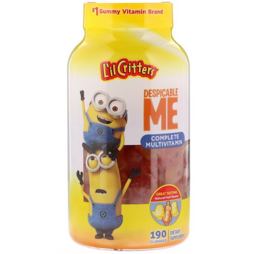 L'il Critters, Despicable Me Complete Multivitamin, Natural Fruit Flavors, 190 Gummies Review