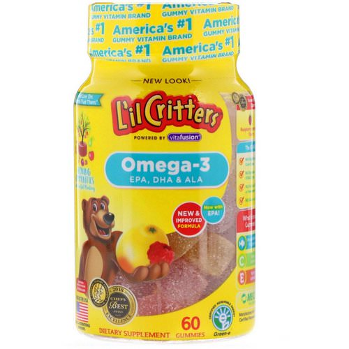 L'il Critters, Omega-3, Raspberry-Lemonade Flavors, 60 Gummies Review