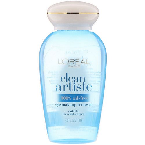 L'Oreal, Clean Artiste, Eye Makeup Remover, for Sensitive Eyes, 4 fl oz (118 ml) Review