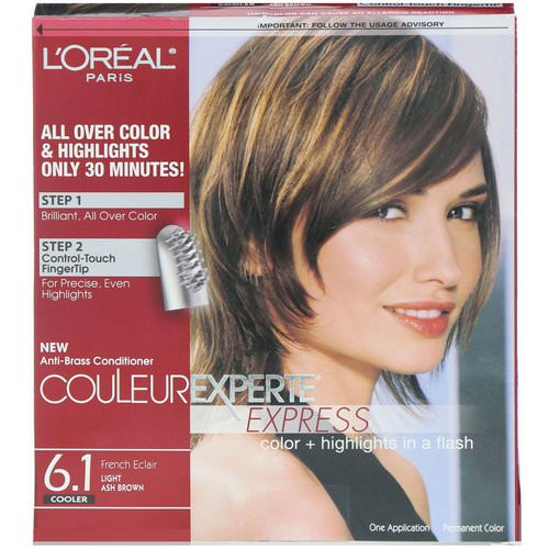 L'Oreal, Couleur Experte Express, Color + Highlights, 6.1 Light Ash Brown, 1 Application Review