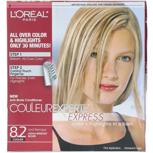L'Oreal, Couleur Experte Express, Color + Highlights, 8.2 Medium Iridescent Blonde, 1 Application Review