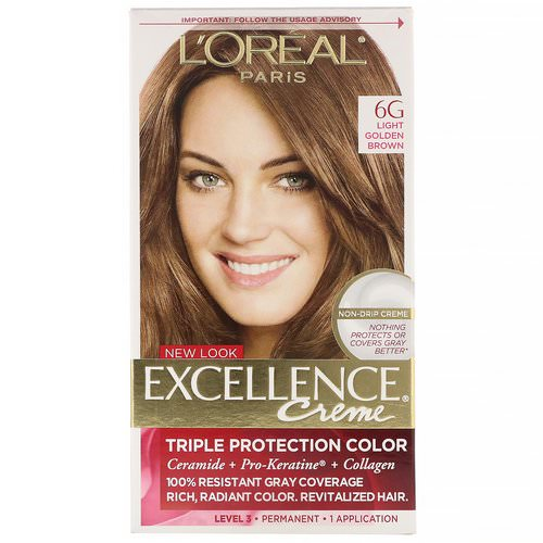 L'Oreal, Excellence Creme, Triple Protection Color, 6G Light Golden Brown, 1 Application Review
