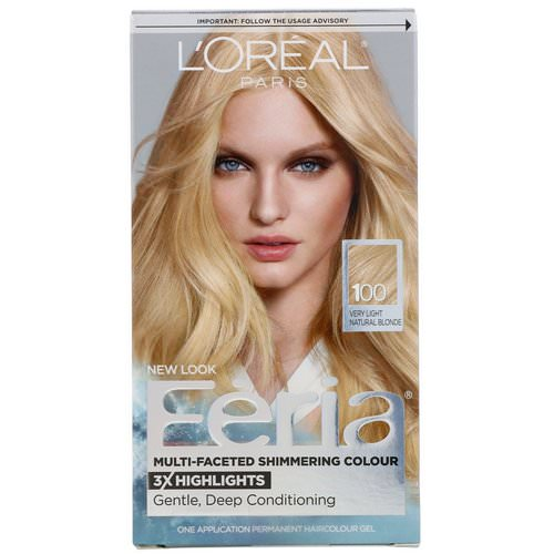 L'Oreal, Feria, Multi-Faceted Shimmering Color, 100 Very Light Natural Blonde, 1 Application Review