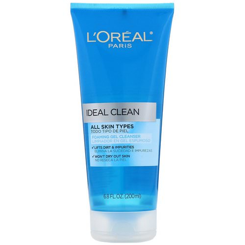 L'Oreal, Ideal Clean, Foaming Gel Cleanser, 6.8 fl oz (200 ml) Review