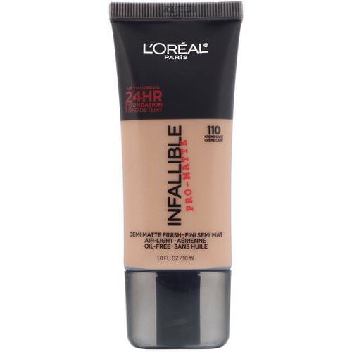 L'Oreal, Infallible Pro-Matte Foundation, 110 Creme Cafe, 1 fl oz (30 ml) Review