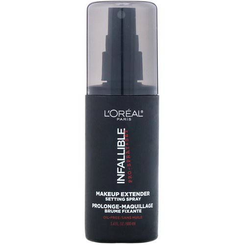 L'Oreal, Infallible Pro-Spray & Set Makeup Extender Setting Spray, 3.4 fl oz (100 ml) Review