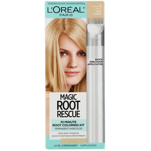 L'Oreal, Magic Root Rescue, 10 Minute Root Coloring Kit, 9 Light Blonde, 1 Application Review