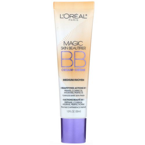 L'Oreal, Magic Skin Beautifier, BB Cream, 814 Medium, 1 fl oz (30 ml) Review
