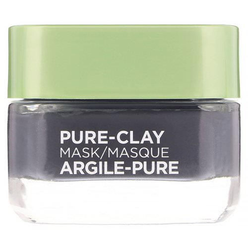 L'Oreal, Pure-Clay Mask, Detox & Brighten, 3 Pure Clays + Charcoal, 1.7 oz (48 g) Review