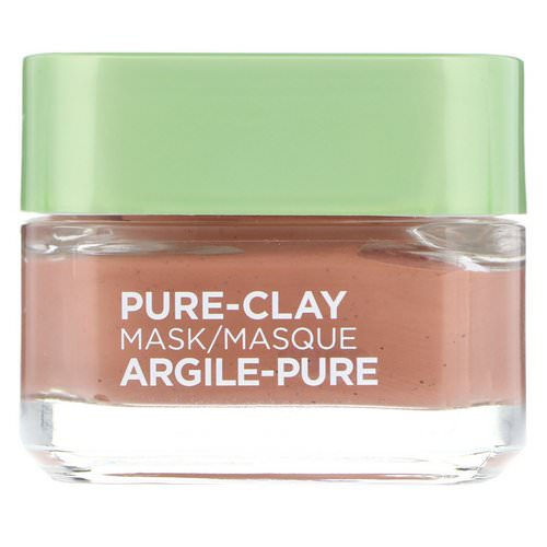 L'Oreal, Pure-Clay Mask, Exfoliate & Refine Pores, 3 Pure Clays + Red Algae, 1.7 oz (48 g) Review