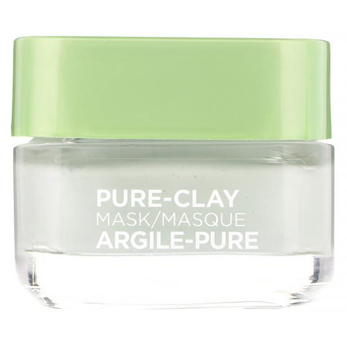 L'Oreal, Pure-Clay Mask, Purify & Mattify, 3 Pure Clays + Eucalyptus, 1.7 oz (48 g) Review