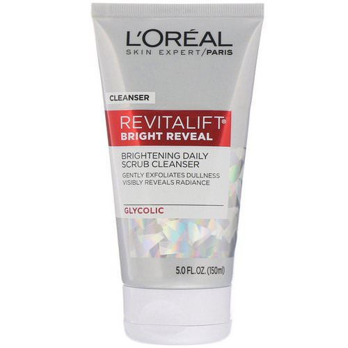 L'Oreal, Revitalift Bright Reveal, Brightening Daily Scrub Cleanser, 5 fl oz (150 ml) Review