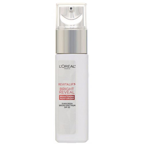 L'Oreal, Revitalift Bright Reveal, Brightening Day Moisturizer, SPF 30, 1 fl oz (30 ml) Review