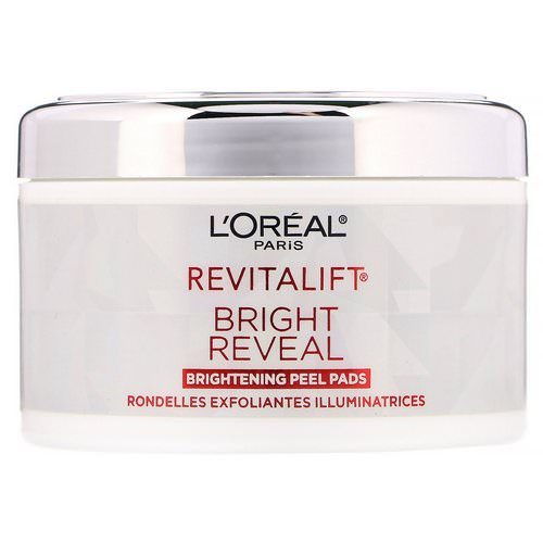 L'Oreal, Revitalift Bright Reveal, Brightening Peel Pads, 30 Pre-Soaked Pads Review
