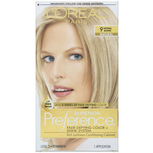 L'Oreal, Superior Preference, Fade-Defying Color + Shine System, 9 Natural Blonde, 1 Application Review
