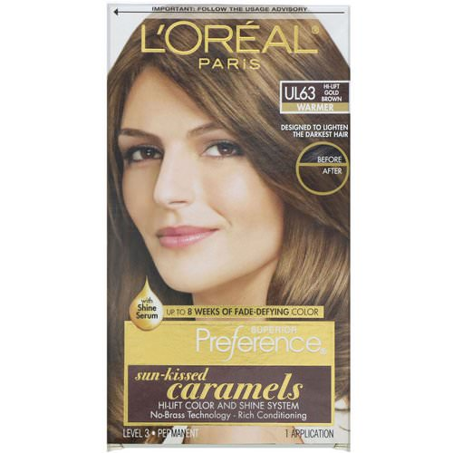 L'Oreal, Superior Preference, Hi-Lift Color + Shine System, Warmer, UL63 Hi-Lift Gold Brown, 1 Application Review
