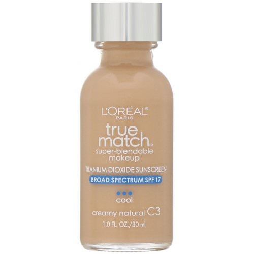 L'Oreal, True Match Super-Blendable Makeup, C3 Creamy Natural, 1 fl oz (30 ml) Review