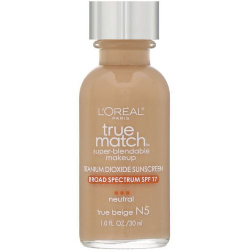 L'Oreal, True Match Super-Blendable Makeup, N5 True Beige, 1 fl oz (30 ml) Review