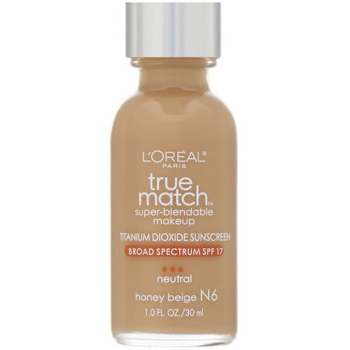 L'Oreal, True Match Super-Blendable Makeup, N6 Honey Beige, 1 fl oz (30 ml) Review