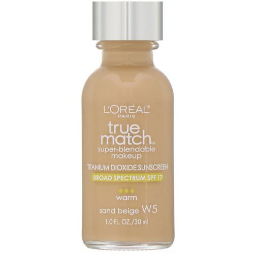L'Oreal, True Match Super-Blendable Makeup, W5 Sand Beige, 1 fl oz (30 ml) Review