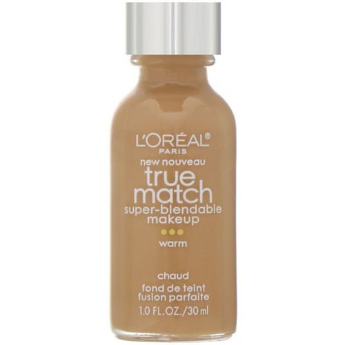 L'Oreal, True Match Super-Blendable Makeup, W8 Cream Cafe, 1 fl oz (30 ml) Review