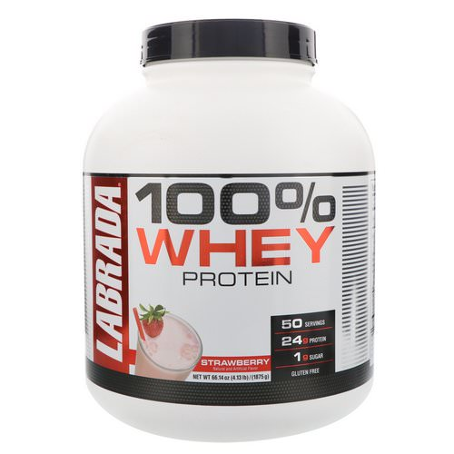 Labrada Nutrition, 100% Whey Protein, Strawberry, 4.13 lbs (1875 g) Review