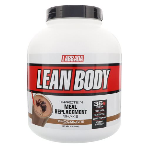 Labrada Nutrition, Lean Body, Hi-Protein Meal Replacement Shake, Chocolate, 4.63 lbs (2100 g) Review