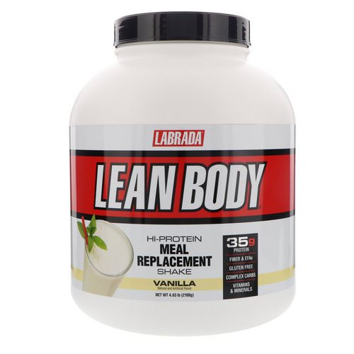 Labrada Nutrition, Lean Body, Hi-Protein Meal Replacement Shake, Vanilla, 4.63 lbs (2100 g) Review