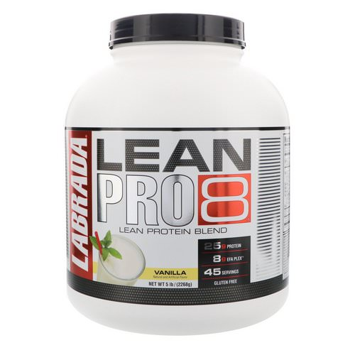 Labrada Nutrition, Lean Pro8, Vanilla, 5 lbs (2268 g) Review