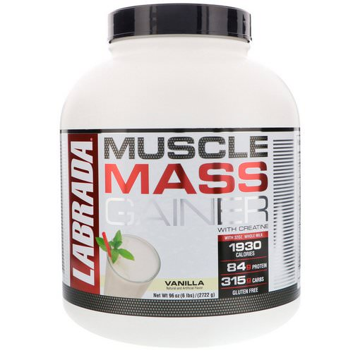 Labrada Nutrition, Muscle Mass Gainer with Creatine, Vanilla, 6 lbs (2722 g) Review
