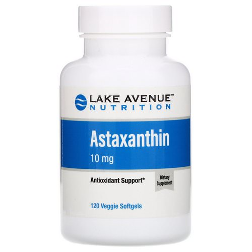 Lake Avenue Nutrition, Astaxanthin, 10 mg, 120 Veggie Softgels Review