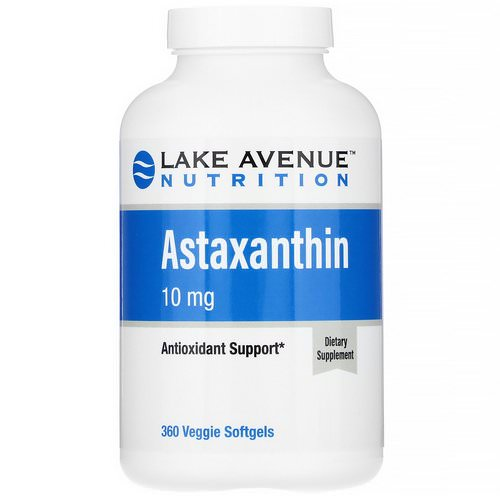 Lake Avenue Nutrition, Astaxanthin, 10 mg, 360 Veggie Softgels Review