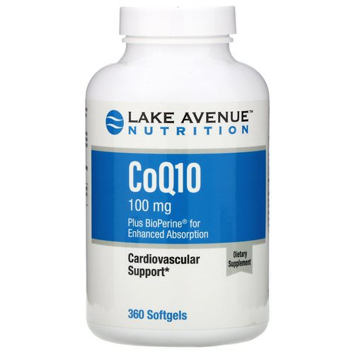 Lake Avenue Nutrition, CoQ10 USP with Bioperine, 100 mg, 360 Softgels Review